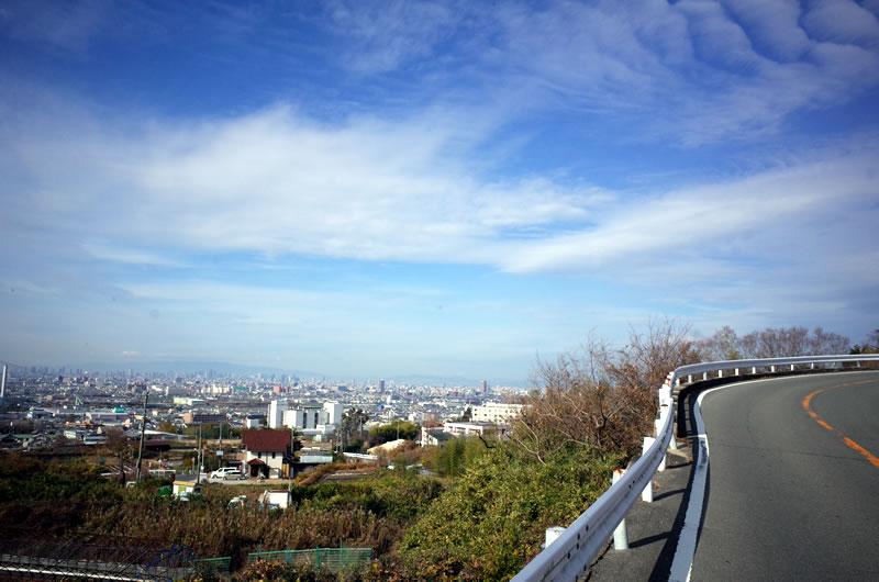 どんどん大阪の街が下に