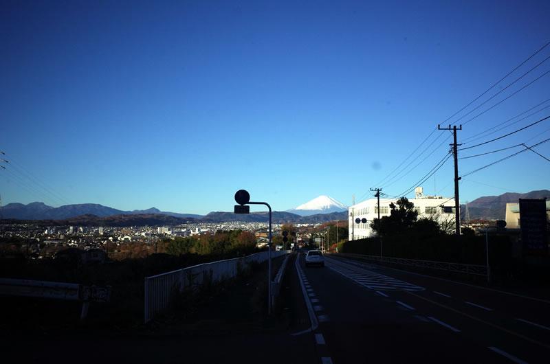 善波峠の富士山は絶景なり