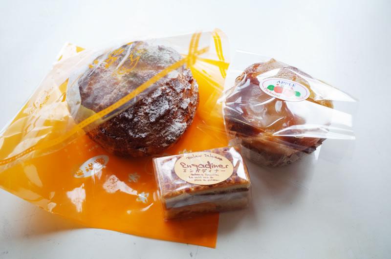 丹沢シュークリームとアップルパイ、くるみのクッキーをゲット!