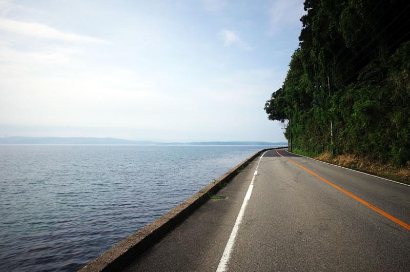 穏やかな海沿いを一路南へ