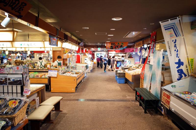 七尾の食祭市場で大休憩