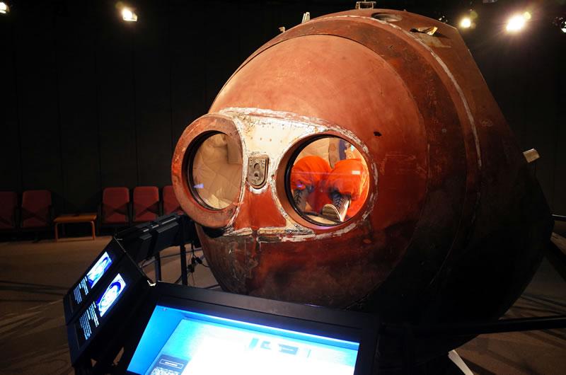 ガガーリンが乗った本物の大気圏突入突入カプセルがあったり