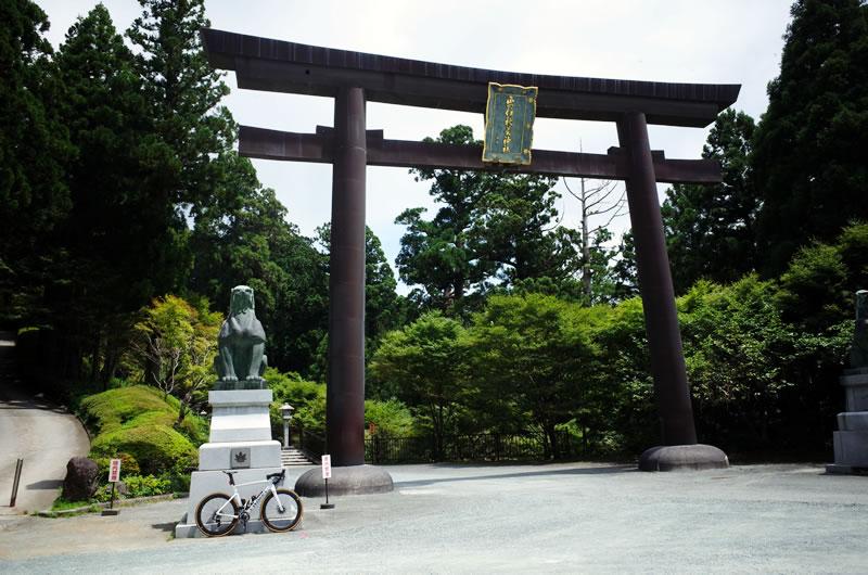 秋葉山ヒルクライムのゴール地点