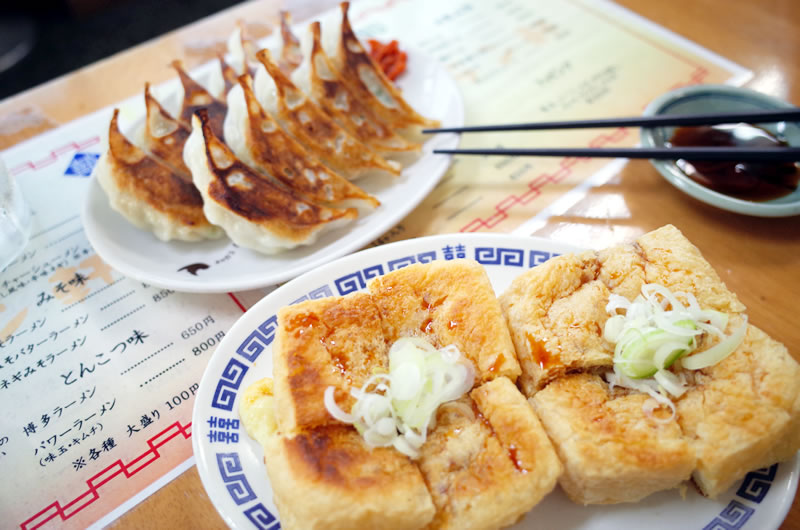 地元産の油揚げに、浜松名産の餃子!