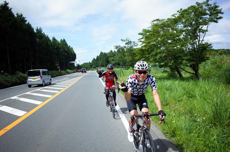 籠坂峠まで皆さんとサイクリング