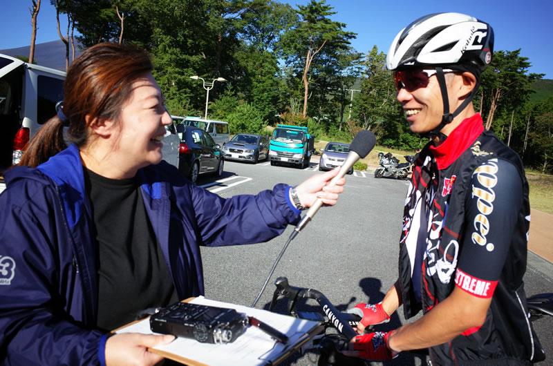 地元ラジオ局にインタビューされました