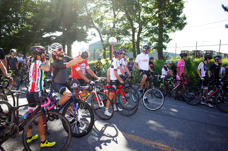遠くイタリアからも友好サイクリストが多数参加