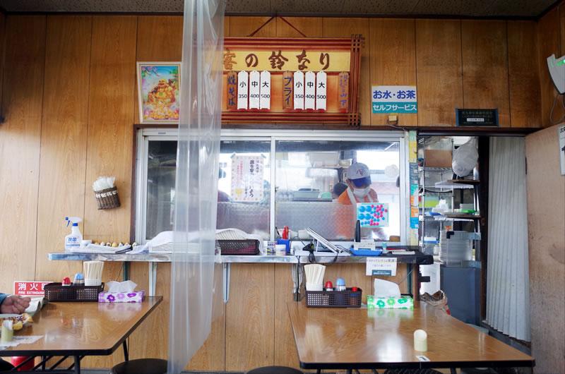 仙道フライ、メニューはフライと焼きそばの2品のみ