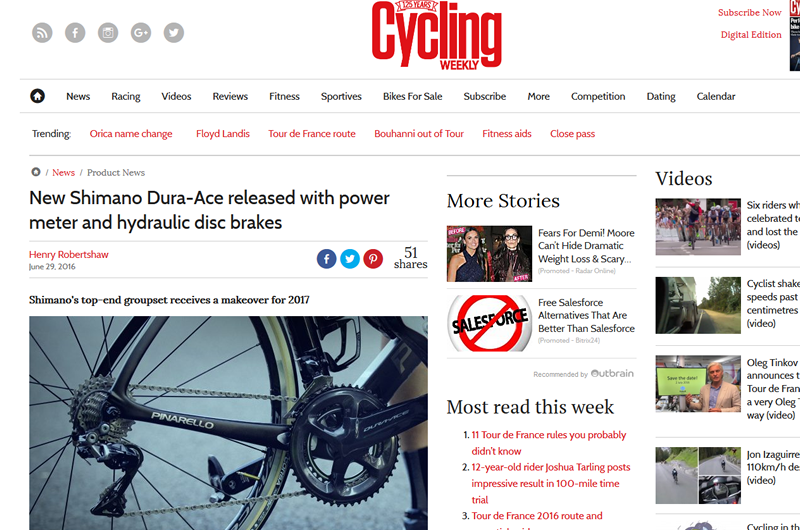 Cycling Weeklyはデュラエース9100をどう報じたか?