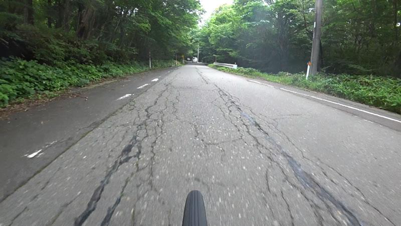 路面状況はイマイチ