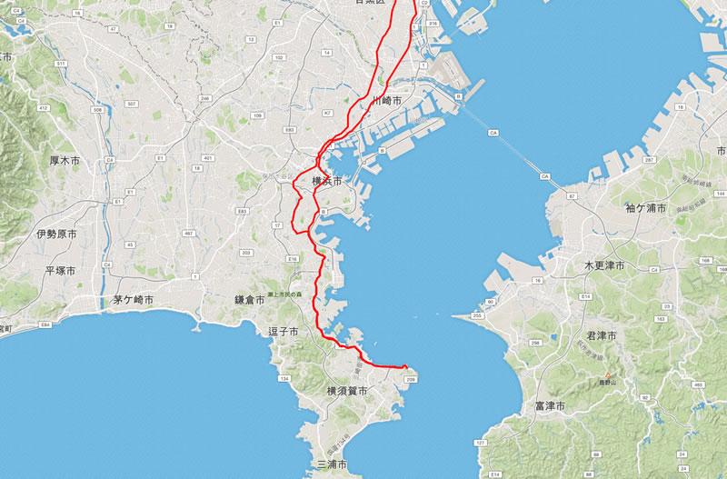 三浦半島の付け根までサイクリングして戻ってくるライド