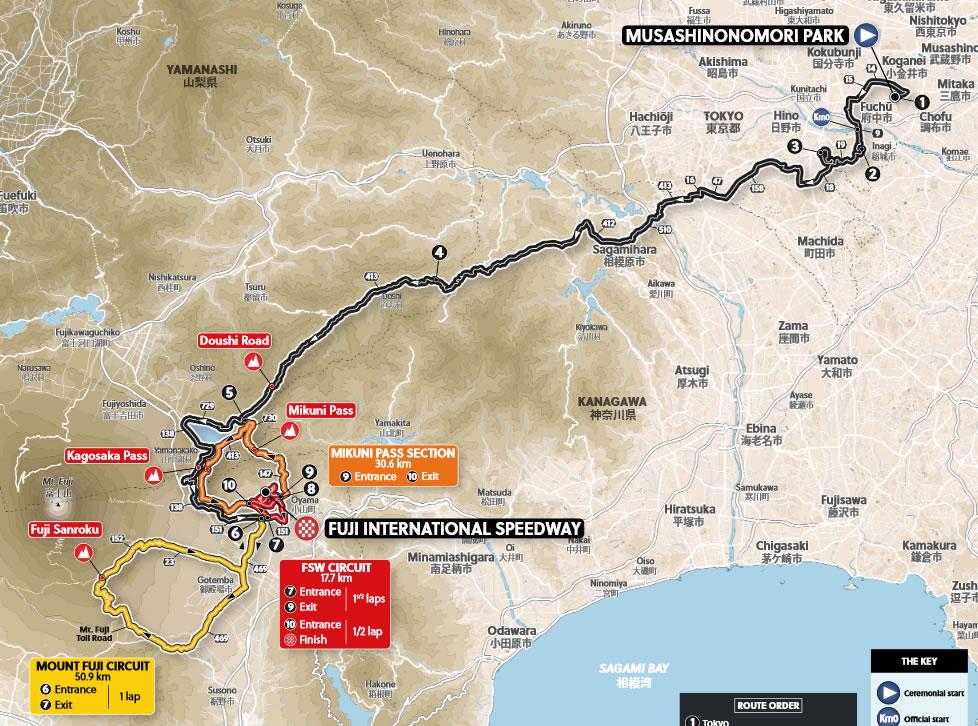 2020東京五輪自転車ロードレースの正式ルート