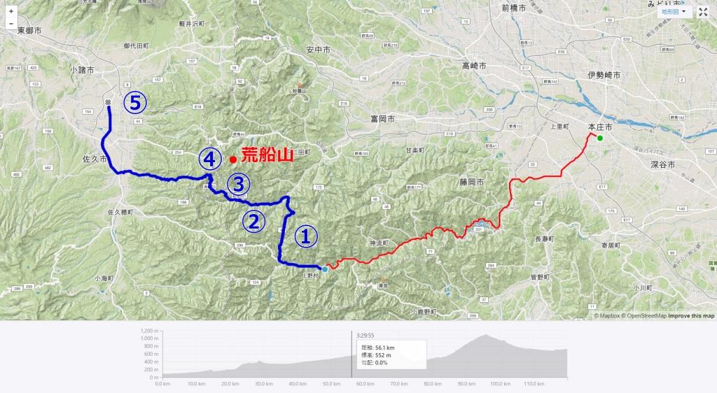 群馬サイクリング後編のルートは南牧村の奥地へ