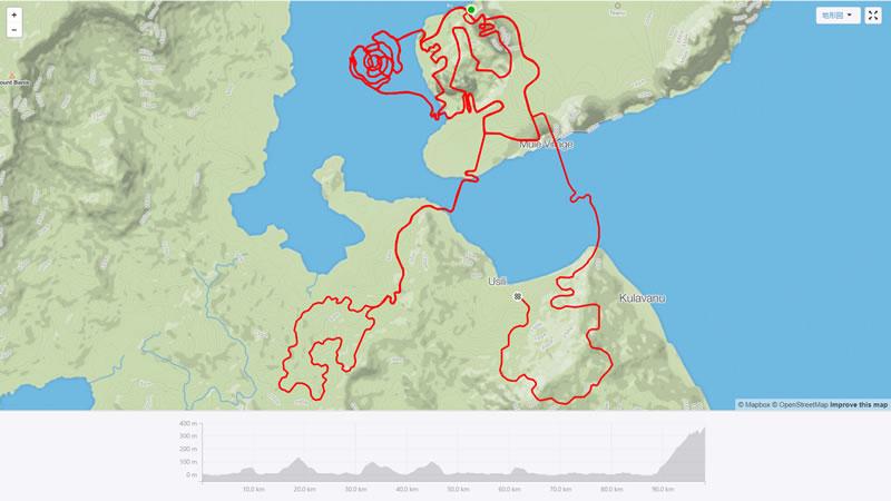 グランフォンドのルートは約98km