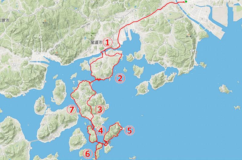 ゆめしま海道(ほぼ1周)ルートでZAPPEIを探す