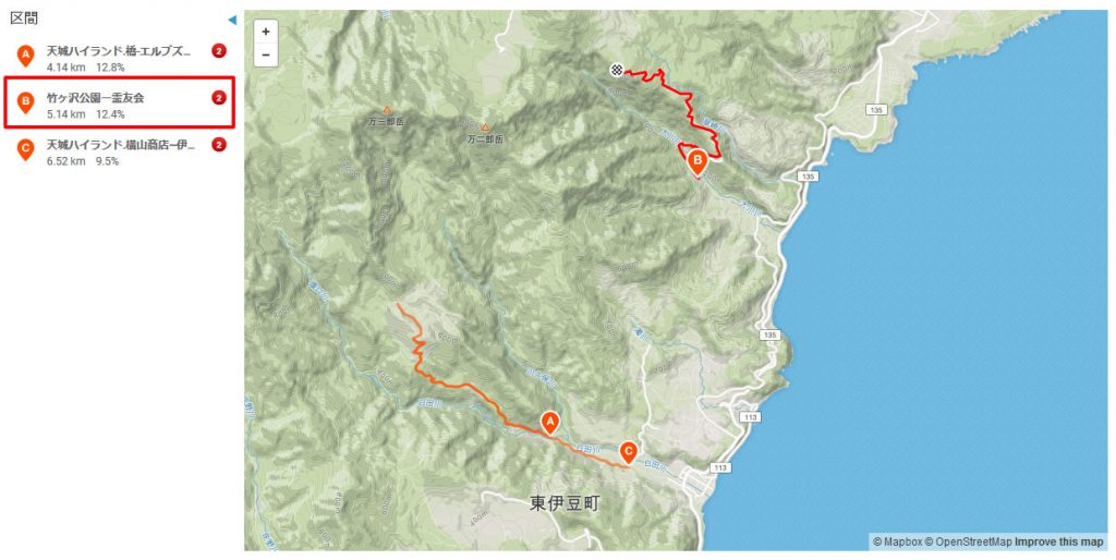 5km以上・11%以上のヒルクライムは浜石岳と「竹ヶ沢公園ー霊友会」しかない!?