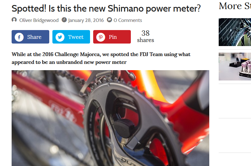 Shimano Power Meter Leaked