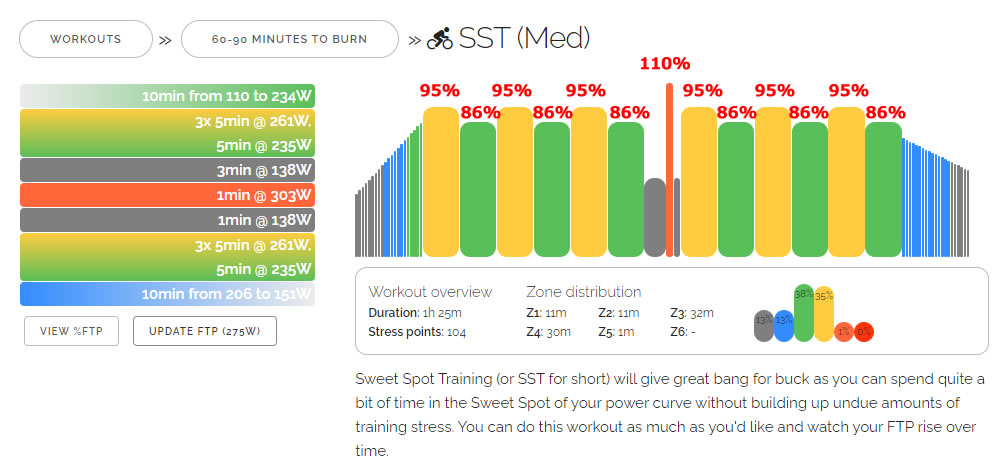 ZWIFT推奨SST(Med)