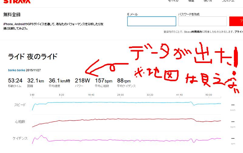 ローラー練でもグラフが表示されるようになりました!