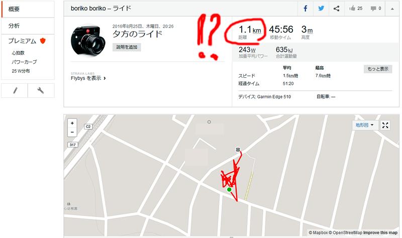 45分でわずか1.1kmしか走ってない!?