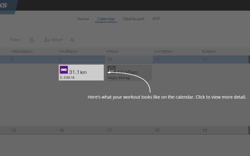 カレンダー形式での表示が可能