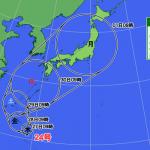 チャーミー、日曜日から月曜日にかけて日本を大荒れにする予報!