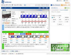9月22日は雨、しかも寒そう!