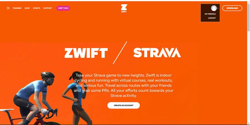 ZWIFTにログインできました!